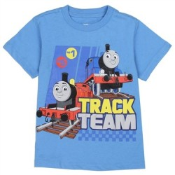 Thomas and Friends Blue Track Team T Shirt