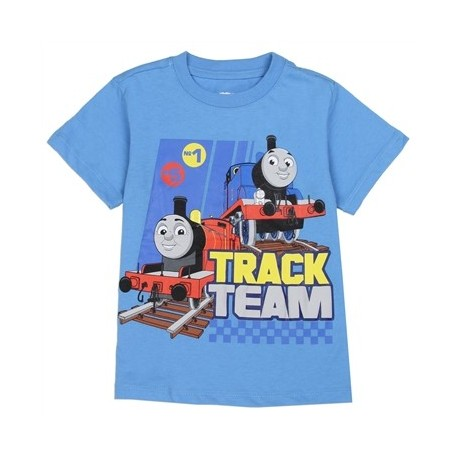 Thomas and Friends Blue Track Team T Shirt Houston Kids Fashion Clothing Store