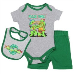 Nick Jr Teenage Mutant Ninja Turtles Pizza Time Infant 3 Piece Set