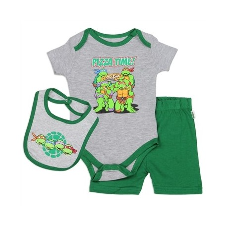 Teenage Mutant Ninja Turtles Pizza Time Infant 3 Piece Set