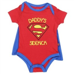 DC Comics Superman Daddy's Sidekick Red Caped Onesie