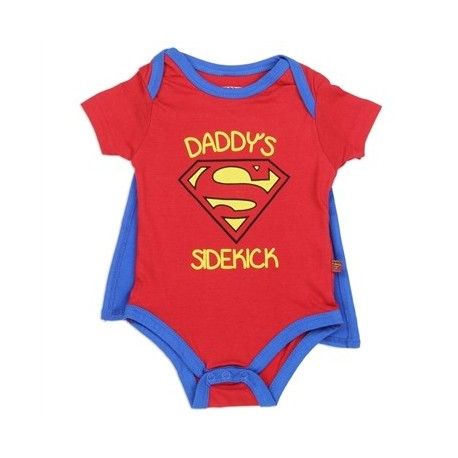 DC Comics Daddy's Sidekick Red Caped Onesie