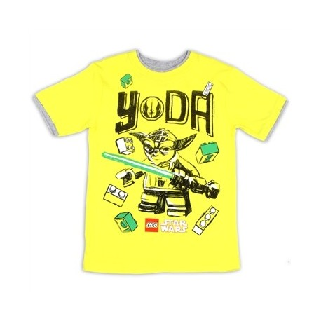 Lego Star Wars Yoda Boys Yellow Short Sleeve Boys Shirt Houston Kids Fashion Clothing