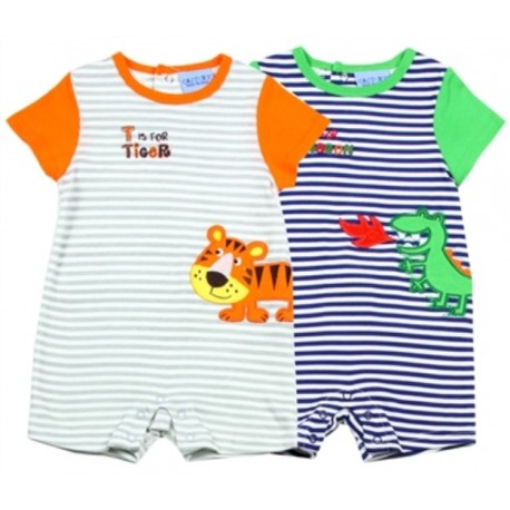 Carter's Baby Romper Set With Green Dragon and Orange Dragon