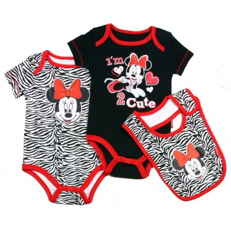 set bib /& shorts  6-9 months Mickey Minnie one piece NWT Disney infant 3 pc