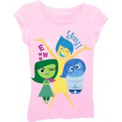 Joy Sadness and Disgust Pink Short Sleeve Disney Inside Out Top