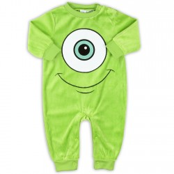 Disney Monsters Inc Green Soft Velour Infant Sleeper