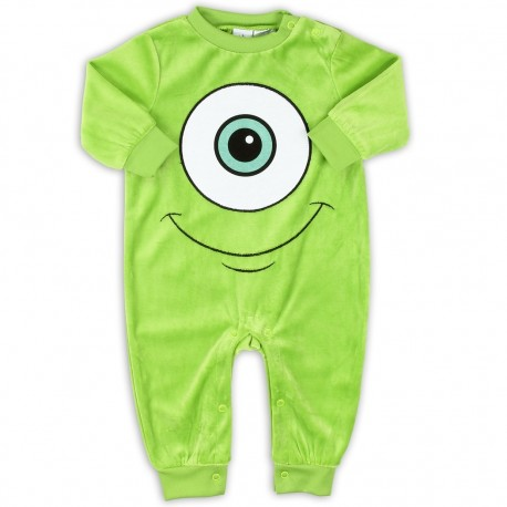 Disney Monsters Inc Mike Green Soft Velour Infant Sleeper Houston Kids Fashion Clothing