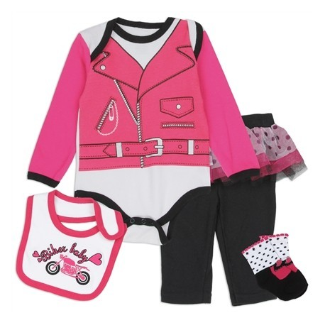 Biker Lady 4 Piece Layette Set From Nuby
