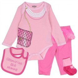 Glourous Like Mommy Creeper, Pants, Bib And Socks From Nuby Houston Kids Fashion Clothing Store