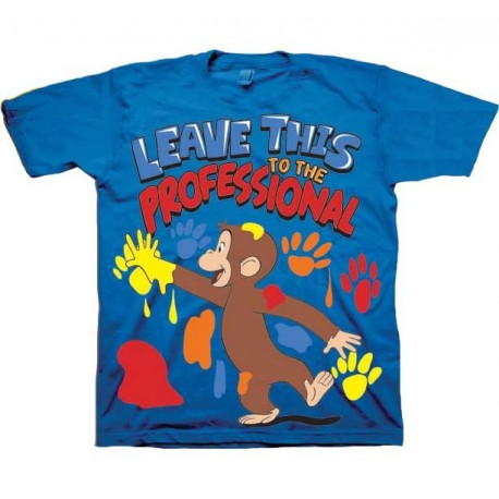 Curious George Leave This To The Professional Short Sleeve Graphic T Shirt Houston Kids Fashion Clothing Store