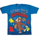 Curious George Leave This To The Professional Short Sleeve Graphic T Shirt