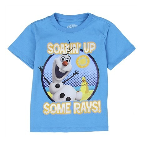 Disney Frozen Olaf Soakin Up Some Rays Blue Toddler T Shirt