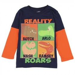 Disney Pixar The Good Dinosaur Reality Roars Long Sleeve Shirt