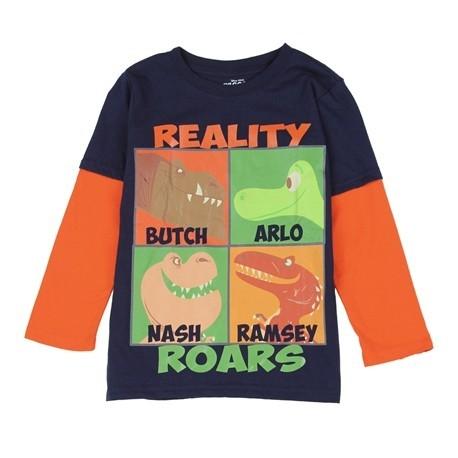 Disney Pixar The Good Dinosaur Reality Roars Long Sleeve Shirt Houston Kids Fashion Clothing