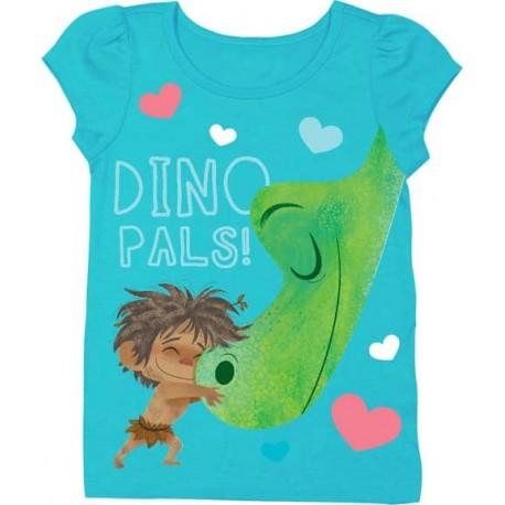 Disney Pixar The Good Dinosaur Dino Pals Girls Puff Sleeve T Shirt