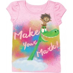 Disney The Good Dinosaur Make Your Mark Toddler Girl Puff Tee Houston Kids Fashion Clothing