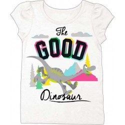 The Good Dinosaur White Toddler Girls Puff Tee