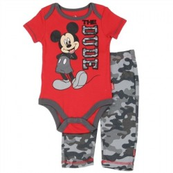 Disney Mickey Mouse The Dude Creeper And Camo Pants
