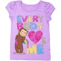 Officially Licensed Curious George Everybody Loves Me Lilac Graphic T Shirt