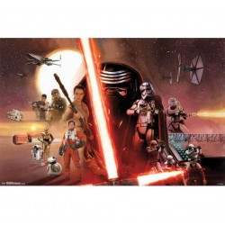 Star Wars The Force Awakens Rebel And Empire Group Poster