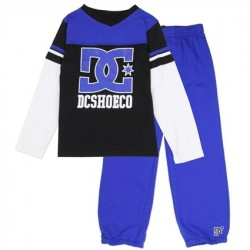 DC Shoe Co Toddler Blue Long Sleeve Top With Matching Blue Pants
