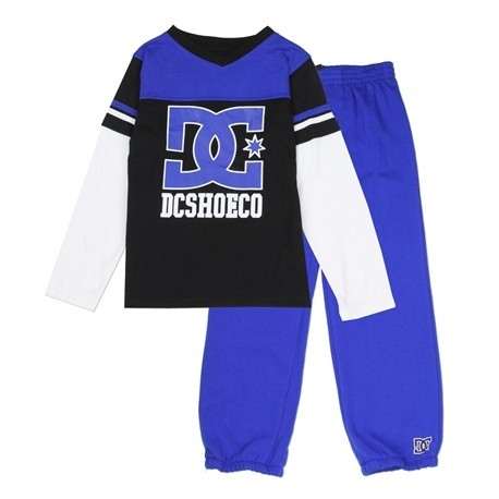 DC Shoe Co Toddler Blue Long Sleeve Top With Matching Blue Pants Houston Kids Fashion Clothing Store