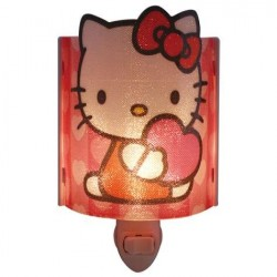 Hello Kitty Red Acrylic Nightlight With Heart
