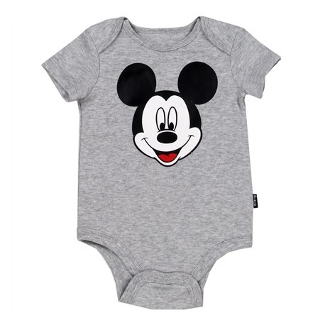 Disney Mickey Mouse Grey Newborn And Infant Creeper Houston Kids Fashion Clothing Store