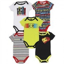 DC Shoe Company Yellow Infant 5 Piece Onesie Set