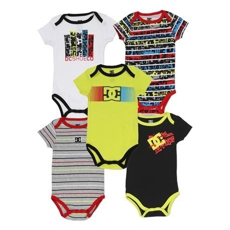 DC Shoe Company Yellow Infant 5 Piece Onesie Set