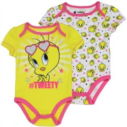 Looney Tunes Tweety Bird Baby Onesie Set