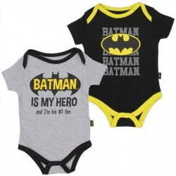 DC Comics Batman Is My Hero Grey Onesie and Black Batman Onesie