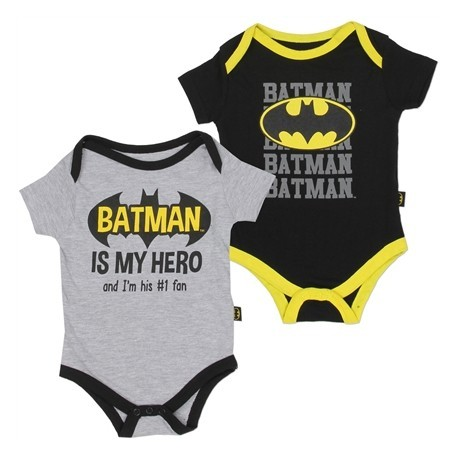 DC Comics Batmam Is My Hero I'm His #1 Fan Baby Onesies 1WB5543B Kids Fashion