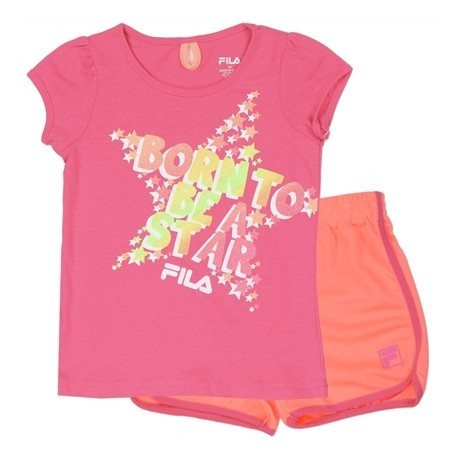 Fila Born To Be A Star Girls Athletic Short Set 453258 Kids Fashion