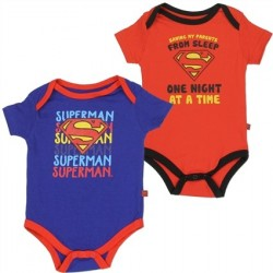 DC Comics Superman Saving My Parents One Night At A Time Onesie Set
