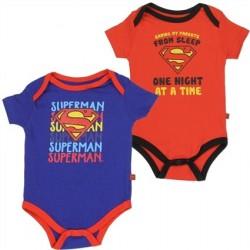 DC Comics Superman Saving My Parents One Night At A Time Onesie Set 1WB5543C-2T
