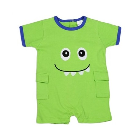 Green Monster Embroidered Romper From Little Beginnings Baby Clothes
