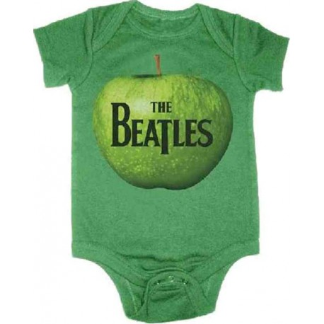 Apple Logo From The Beatles Kelly Green Onesie