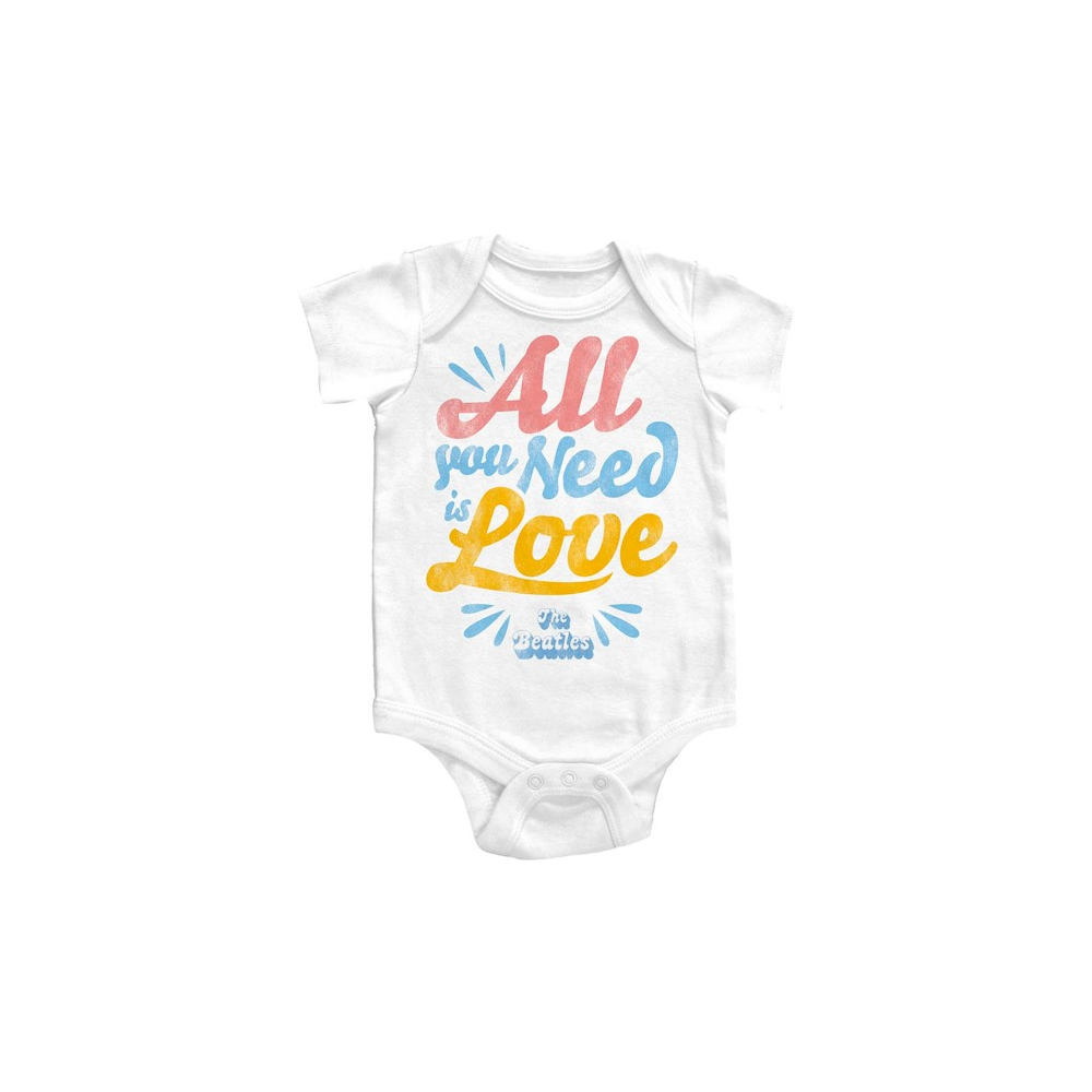 Beatles Baby Clothes All You Need Is Love Onesie