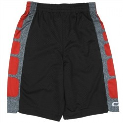 CB Sports Black and Red Athletic Boys Shorts