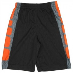 CB Sports Black and Orange Boys Athletic Shorts