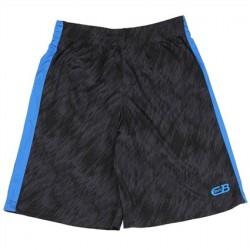 CB Sports Black Athletic Shorts With Blue Stripe On Side Houston Kids Fashion Clothing