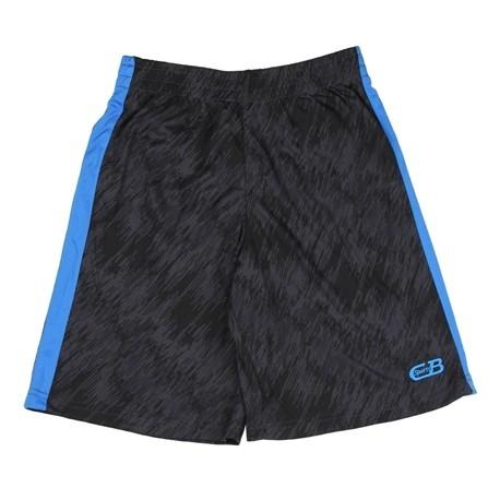 CB Sports Black Athletic Shorts With Blue Stripe On Side