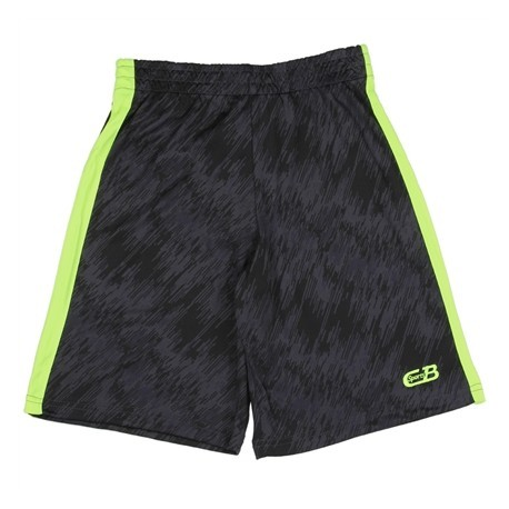 CB Sports Black and Green Boys Athletic Shorts