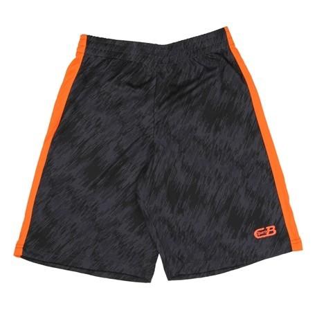 CB Sports Black and Orange Athletic Shorts