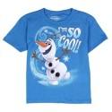 Disney Frozen Olaf I'm So Cool Blue Short Sleeve Graphic T Shirt