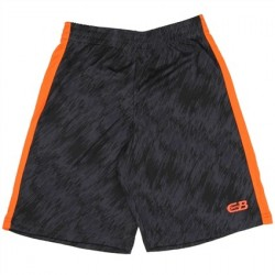 CB Sports Black Athletic Shorts With Orange Stripe On Side