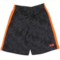CB Sports Black Athletic Shorts With Orange Stripe On Side