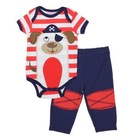 Buster Brown Red And White Stripe Onesie With A Pirate Dog Houston Kids Fashion Clothing